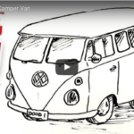 Como dibujar una furgo VW Camper.