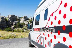 Explorando y descubriendo Andalucia en una VW Camper.