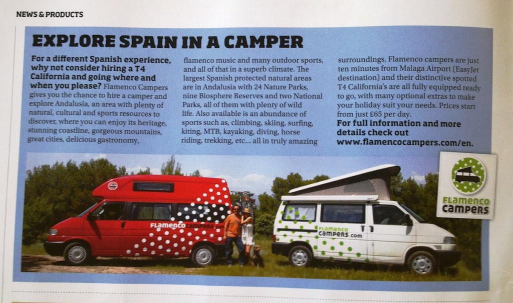 flamenco campers in the vw camper commercial magazine 2 - Flamenco Campers en la revista VW Camper & Commercial