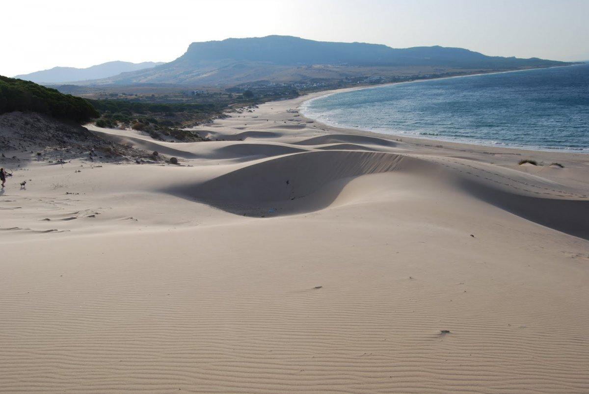 playa de bolonia verano en camper