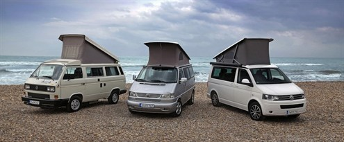 VWCalifornias1 - The Volkswagen California celebrates its 25 years for road trips and adventures.