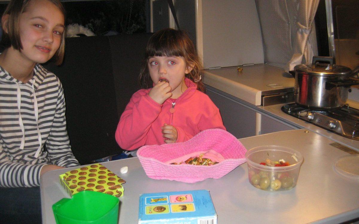 Carmela dinner e1490637508448 - Kirsten, Lili & Helen, USA