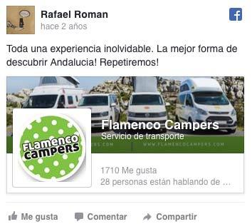 Rafael recomienda nuestras campers