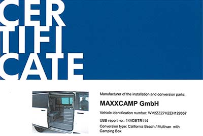 certificadomaxxcamp 00 - Flamenco Campers distribuidor oficial de MAXXCAMP en España